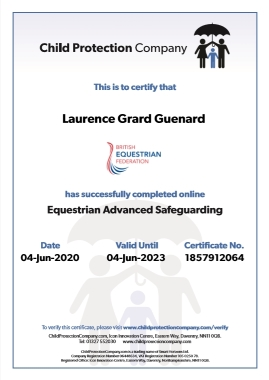 Certificat Child Protection